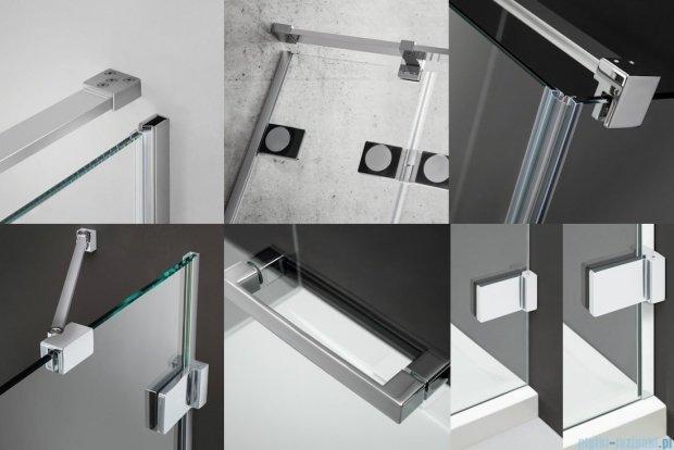 Radaway Euphoria PDD Kabina prysznicowa 90x90 szkło przejrzyste + brodzik Delos A + syfon 383001-01L/383001-01R/SDA0909-01