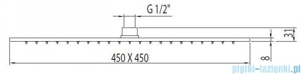 Tres Głowica natryskowa antical chrom 299.632.05