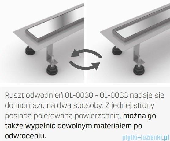 New Trendy Axo 90x10x7 cm odpływ liniowy z rusztem dwustronnym OL-0032