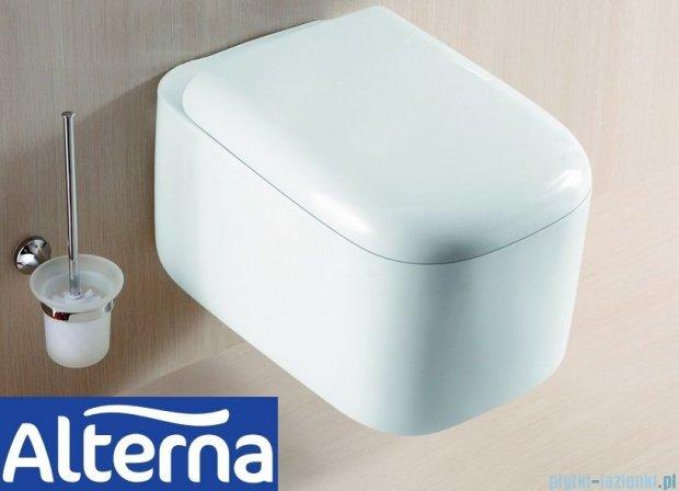 Alterna Eden Miska wisząca WC z deską wolnoopadającą biała 540x370x360mm ALTN-124484