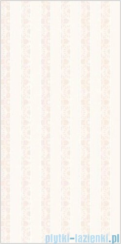 Paradyż Piumetta bianco paski inserto ścienne 29,5x59,5
