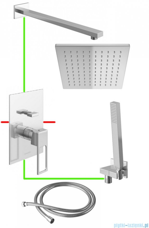 Kohlman Nexen podtynkowy zestaw prysznicowy NLE01