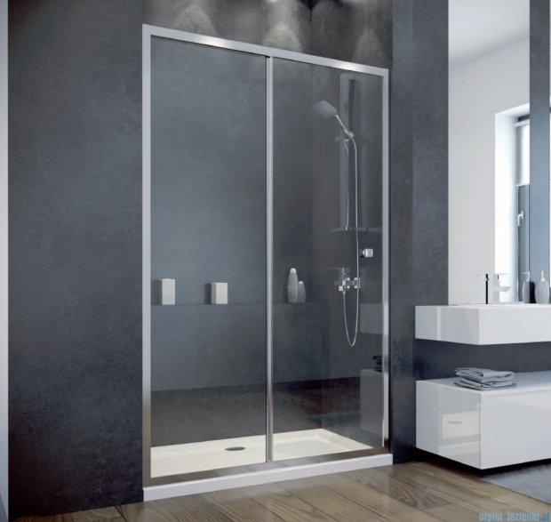 Besco Duo Slide drzwi prysznicowe przesuwne 120x195 przejrzyste DDS-120