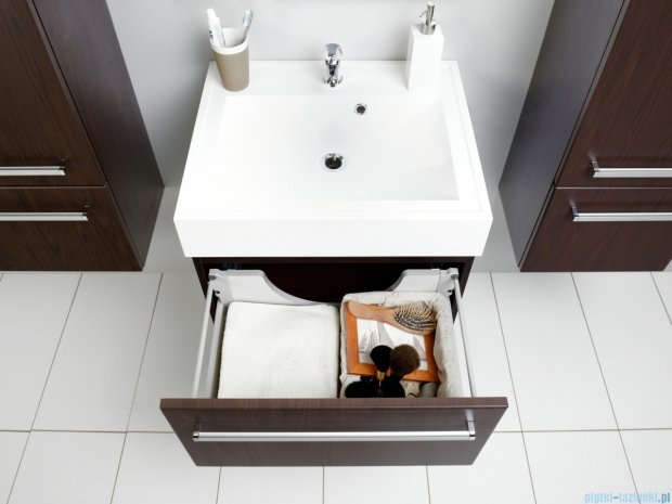 Antado Variete szafka z umywalką, wisząca 60x50x33 wenge mat FDM-442/6 + UNA-600