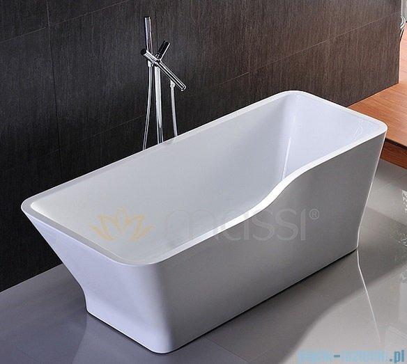 Massi Vago 150 wanna wolnostojąca prostokątna 150x78 cm biała MSWA818150