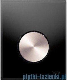 Tece Przycisk spłukujący ze szkła do pisuaru Teceloop szkło czarne, przycisk stal szczotkowana 9.242.663