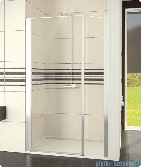 SanSwiss Swing-Line Drzwi 1-częściowe ze ścianką stałą w linii 100cm SL3110000107