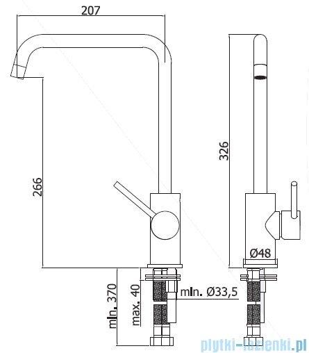 Paffoni Light bateria kuchenna wysoka chrom LIG980