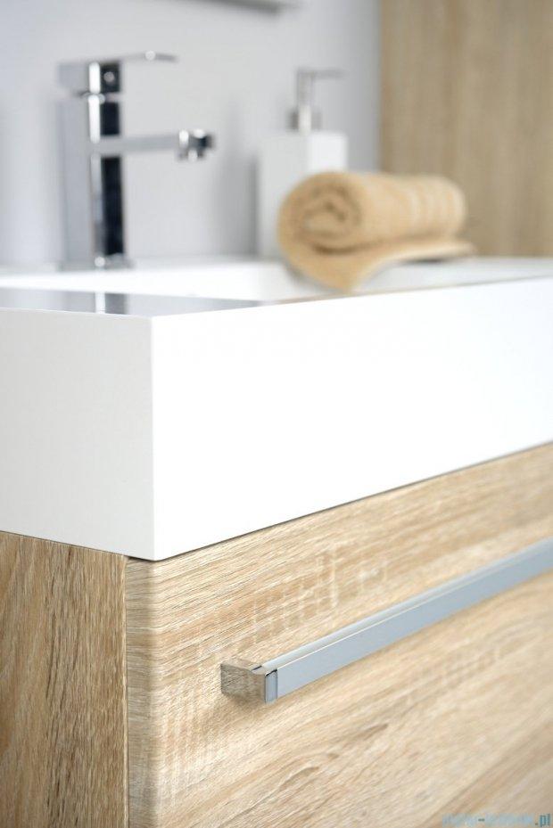 Antado Spektra szafka z umywalką, wisząca 80x50x33 dąb Samba FDF-442/8GT-62 + UNA-800