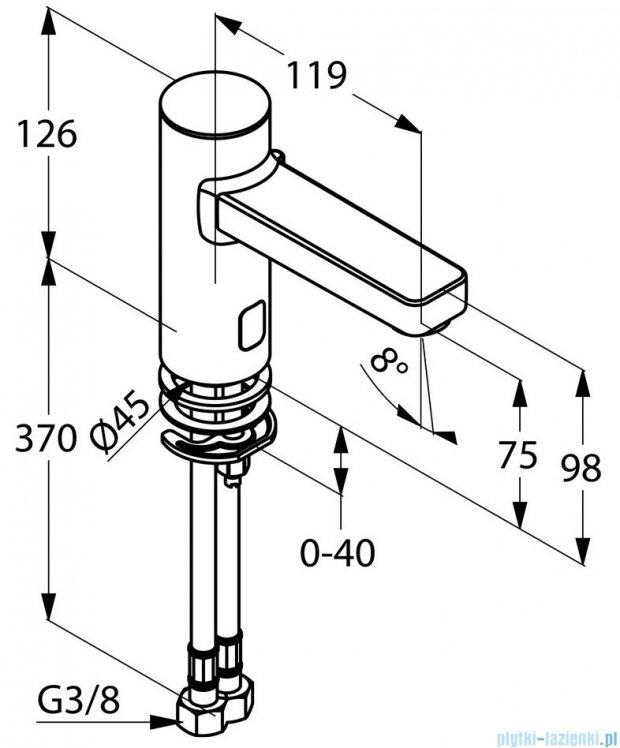 Kludi Zenta Elektroniczna bateria umywalkowa DN 15 chrom 3810005