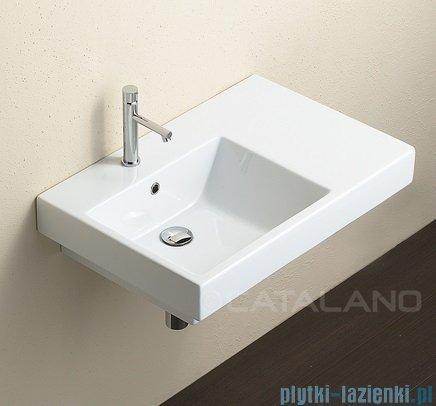 Catalano Zero Domino 75 umywalka lewa 75x50 biała 17SZE00