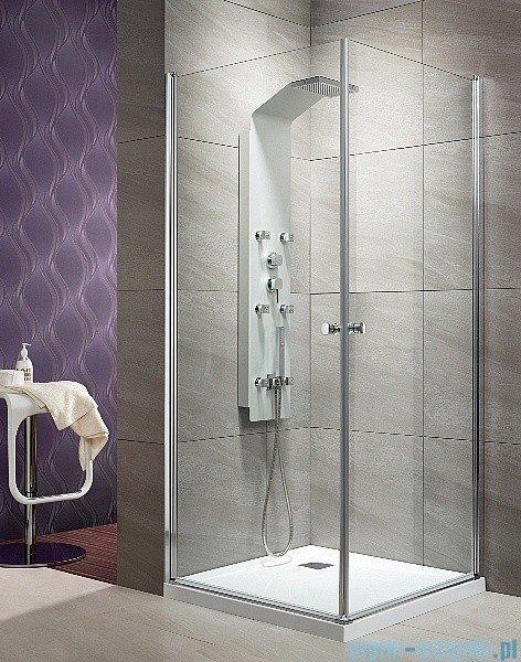 Radaway Eos KDD kabina prysznicowa 100x100 szkło przejrzyste + Brodzik Delos C + syfon 37223-01-01N