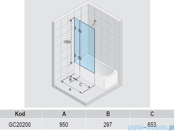 Riho Scandic S109 parawan nawannowy 95x150 cm GC20200