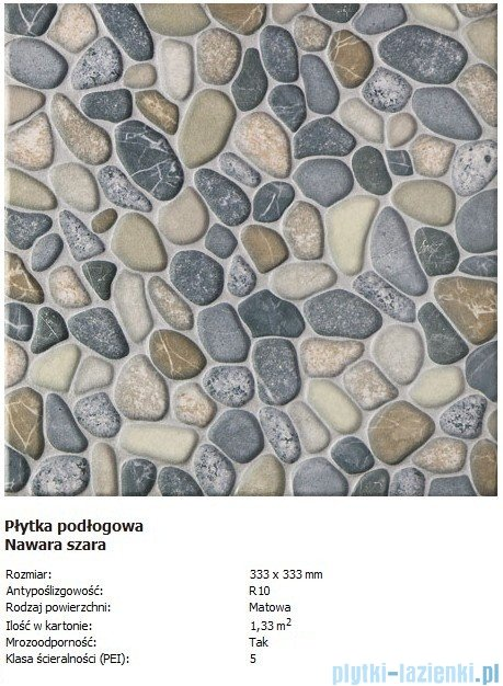 Domino P-Nawara szara 33,3x33,3