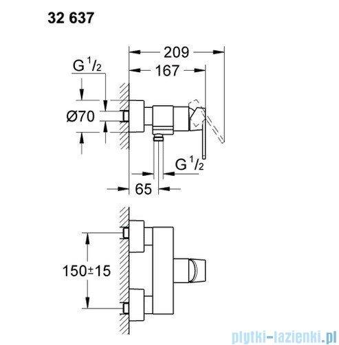 Grohe Quadra jednouchwytowa bateria prysznicowa  32637000
