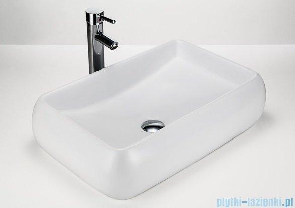 Massi Recto umywalka nablatowa 60x43 cm biała MSU 5253