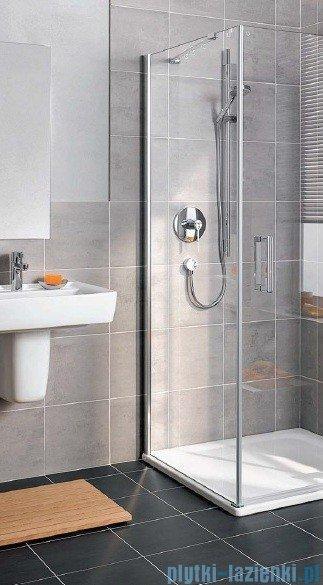 Kermi Gia XP Ściana boczna, lewa, szkło przezroczyste, profile srebrne 100x185cm GXTWL10018VAK