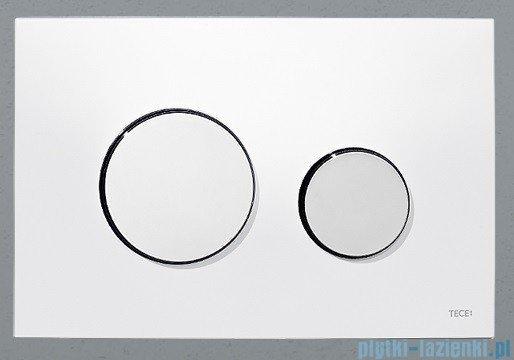 Tece Przycisk spłukujący z tworzywa-do WC Teceloop biały przyciski chrom połysk 9.240.627
