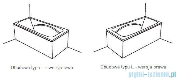 Poolspa Obudowa jednoczęściowa typu L (prawa) PWOKF10OWL00000