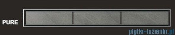 Wiper Odpływ liniowy Premium Pure 60cm z kołnierzem mat PU600MPS100
