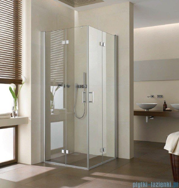 Kermi Diga Wejście narożne,połowa kabiny, prawa, szkło przezroczyste, profile srebrne 110x200cm DI2CR11020VAK