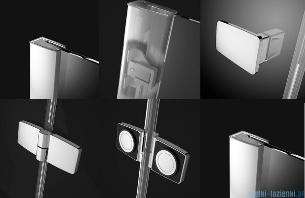 Radaway Fuenta New DWJS drzwi wnękowe 120cm prawe szkło przejrzyste 384031-01-01R/384090-01-01