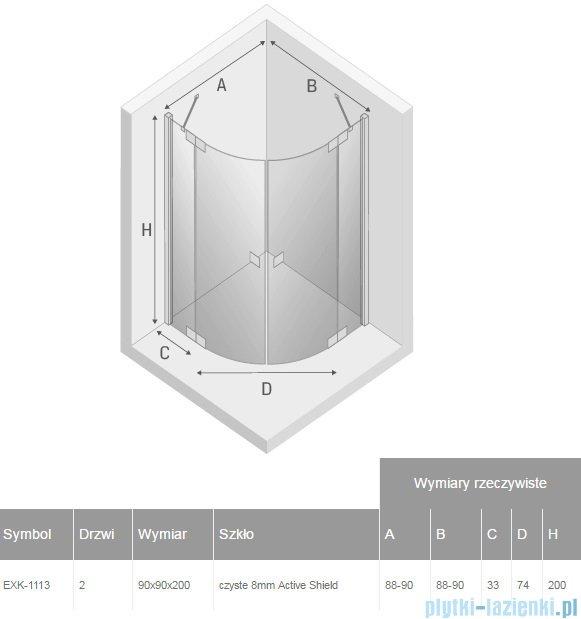 New Trendy Trivia kabina 90x90x200cm przejrzyste EXK-1113