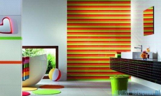 Mozaika ścienna prostokątna Tubądzin Colour White 32,7x29,5