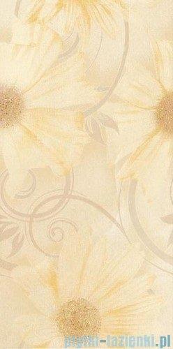 Paradyż Sabro beige kwiat inserto ścienne 29,5x59,5