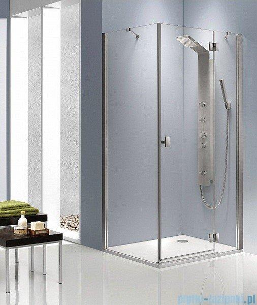 Radaway Kabina prysznicowa Essenza KDJ 80x100 prawa szkło brązowe + brodzik Doros D + syfon 32849-01-08NR