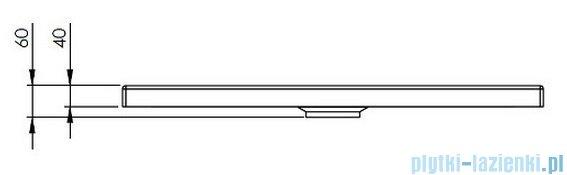 Roca Granada Brodzik Prostokątny 120x80x4cm Biały Akryl A276262000