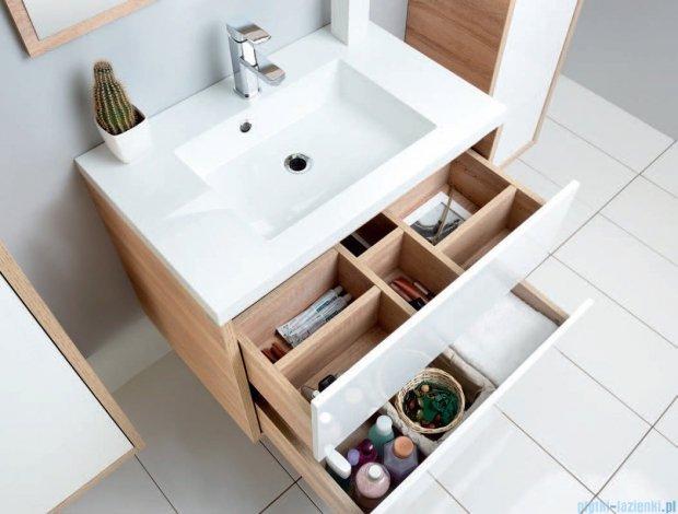 Antado Grande szafka z umywalką 59x50cm dąb Sonoma+biały GR-140/60-3025/WS+UMMR-600C
