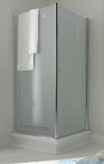 Kerasan Retro Kabina kwadratowa lewa szkło dekoracyjne piaskowane profile brązowe 90x90 9147P3