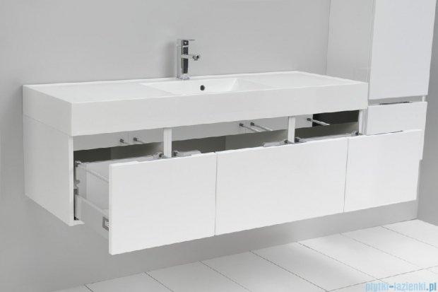 Antado Cantare szafka z umywalką 140x50x33 biały połysk 2xFSM-342/4GT-47/47+FSM-342/6GT-47/47+UNAM-1404C