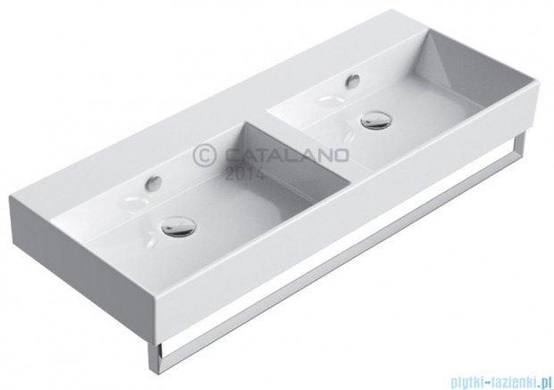 Catalano Premium 120 umywalka podwójna 120x47 z powłoką biała 112VPD00