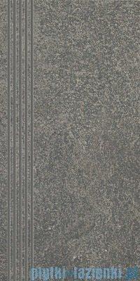Paradyż Flash grafit półpoler stopnica 30x60