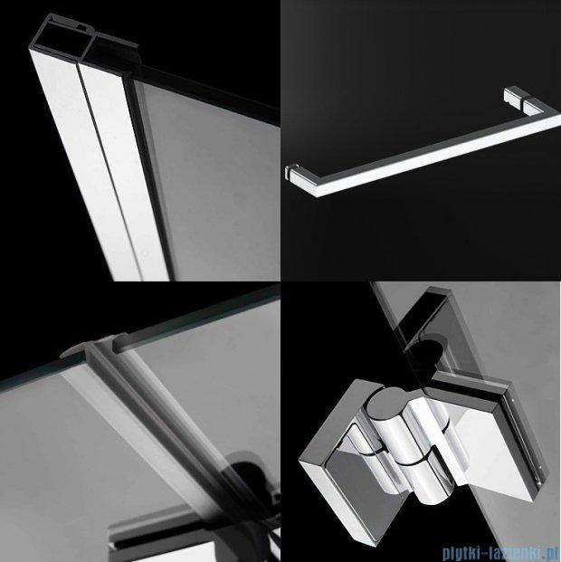 Radaway Carena DWJ Drzwi prysznicowe 90 prawe szkło przejrzyste + brodzik Delos C 34302-01-01NR