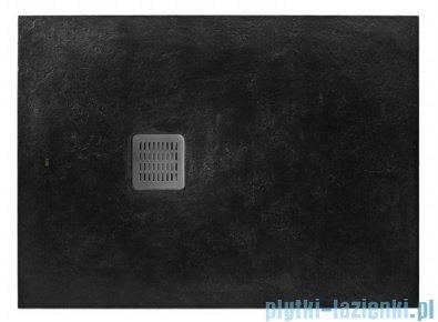 Roca Terran 100x80cm brodzik prostokątny konglomeratowy czarny AP013E832001400