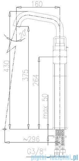 KFA Brylant bateria umywalkowa, kolor chrom 4302-612-00