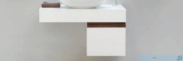 Antado Combi szafka prawa z blatem prawym i umywalką Bali biały/ciemne drewno ALT-141/45-R-WS/dp+ALT-B/2R-1000x450x150-WS+UCS-TC-65