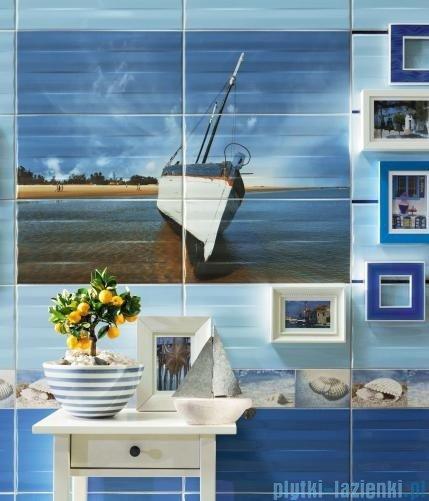 Tubądzin Maxima blue 1 dekor ścienny 6-elementowy 67,3x89,8
