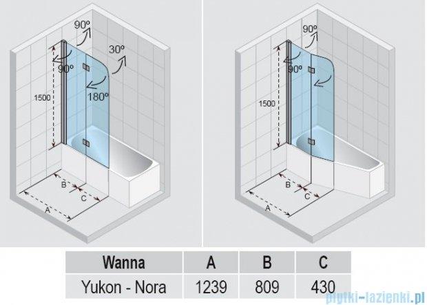 Riho Parawan nawannowy Yukon Nautic N500 43x80x150 cm GGT0221239800