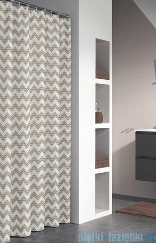 Sealskin Motif Sand zasłona prysznicowa tekstylna 180x200cm 235291365