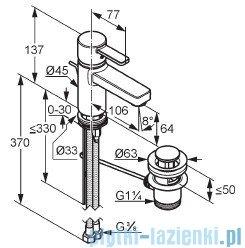 Kludi Zenta Bateria umywalkowa czarny/chrom 382508675