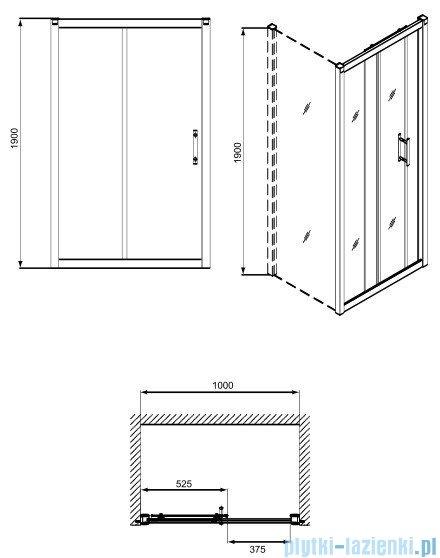 Koło Geo 6 drzwi rozsuwane 100 GDRS10222003