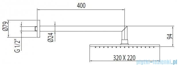 Tres Głowica do mocowania ściennego kolor chrom 299.532.02