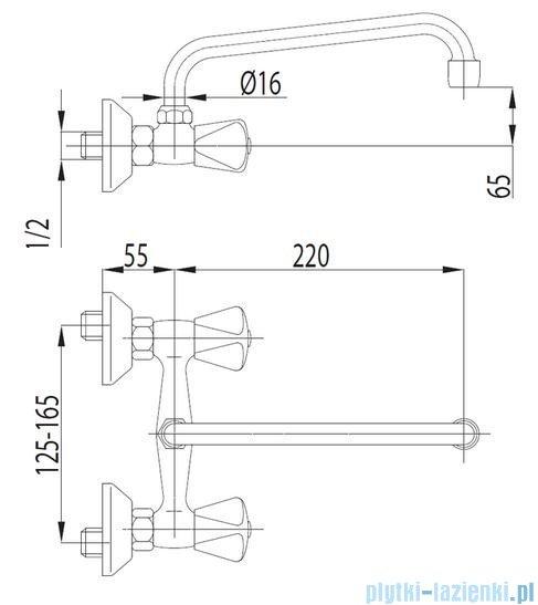 KFA STANDARD Bateria umywalkowa ścienna 300-590-00
