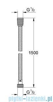 Grohe Relexa metalowy wąż prysznicowy velvet balck 28143KS0