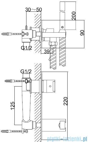 Kohlman Excelent bateria bidetowa-podtynkowa chrom QW138H