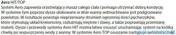 Riho Geta wanna asymetryczna 170x90cm prawa z hydromasażem TOP Aero11 BA88T1